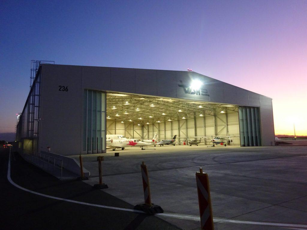letalski hangar za garažiranje poslovnih letal