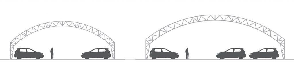 Tip šotorske hale WMS - prodaja vozil