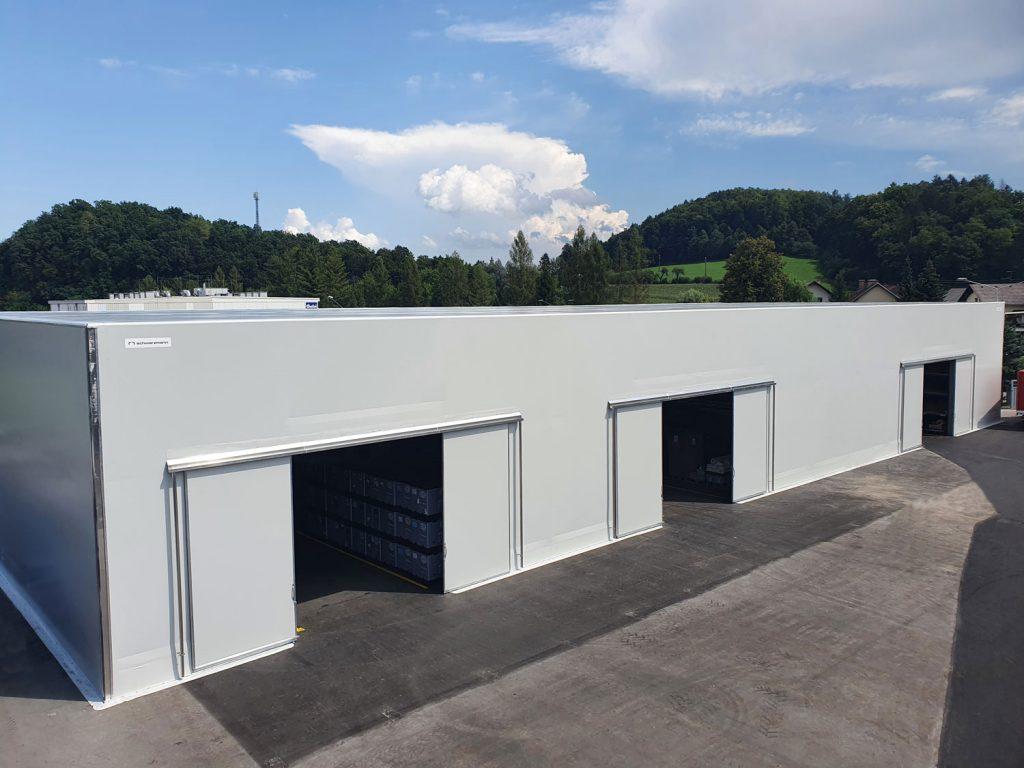 Schwarzmann X šotorska hala - optimizacija skladiščnih kapacitet