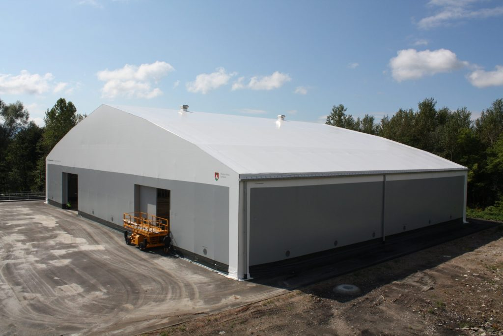 Fabric structure for waste management