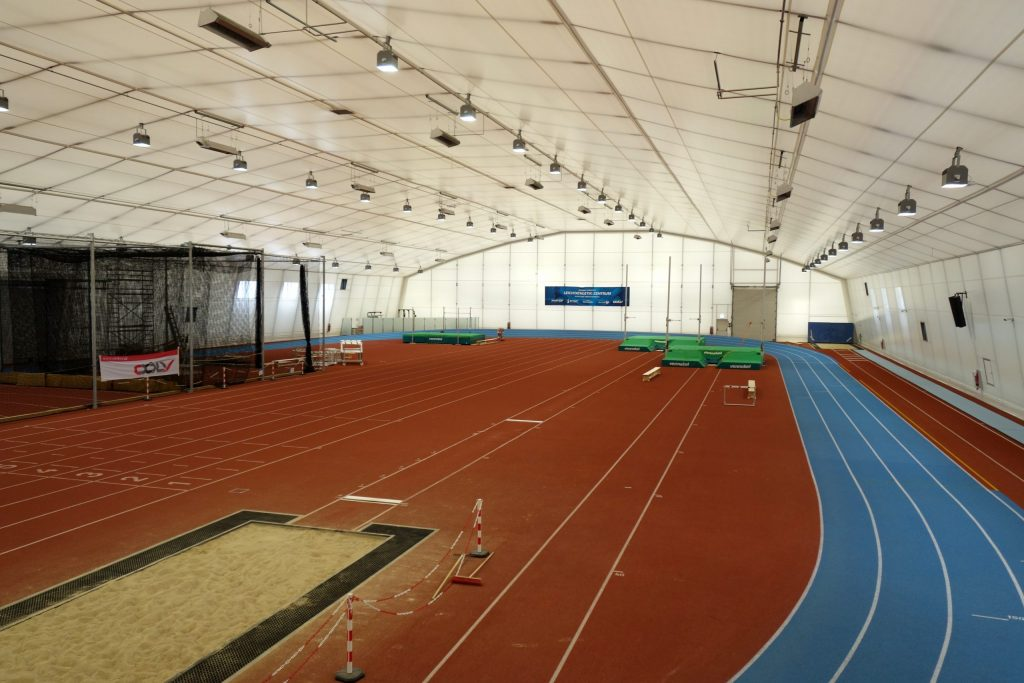 Indoor athletics facility