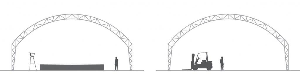 Zelthalle Konstruktion WBS