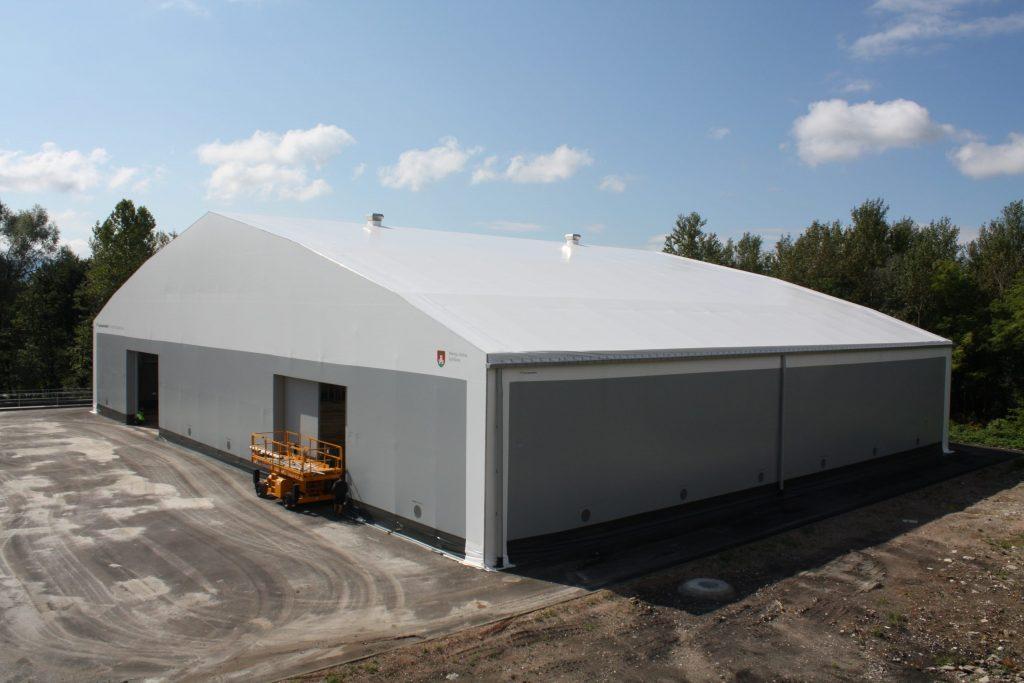 Zelthalle für die Abfallwirtschaft