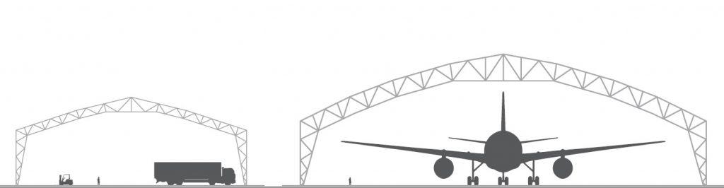 Zelthallen konstruktion WSA und WSS