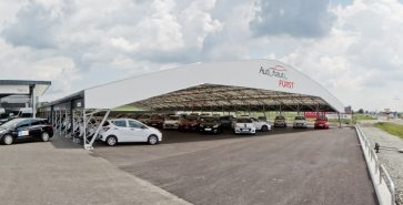 Covered parking Car dealership Fürst
