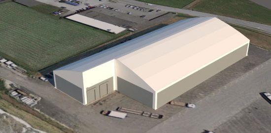3D visualisation example fabric structure on location