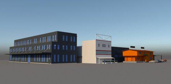 3D visualisation example steel panel building