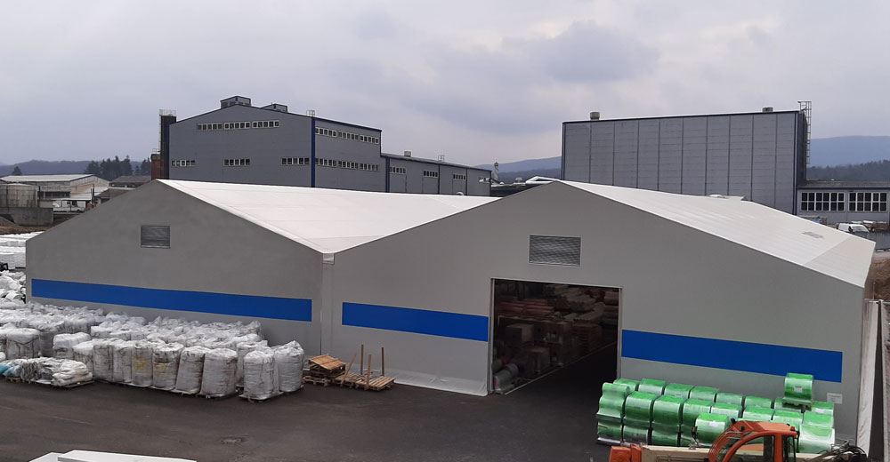 Warehouse fabric structure
