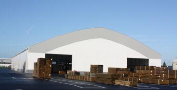 Hangar métallo-textile PBM Nantes